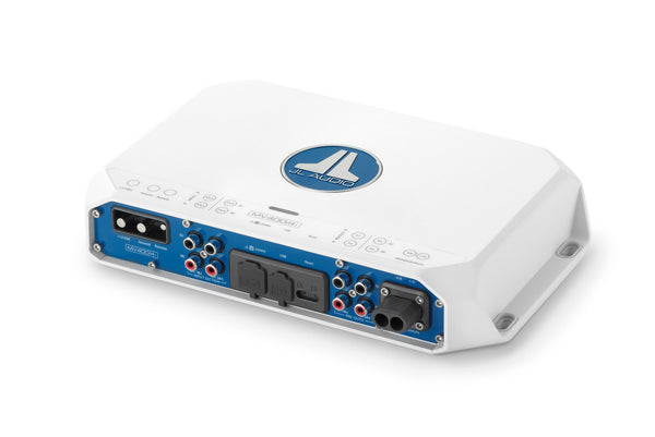 JL Audio MV400/4i 4 Ch. Class D Full-Range Marine Amplifier with Integrated DSP, 400 W