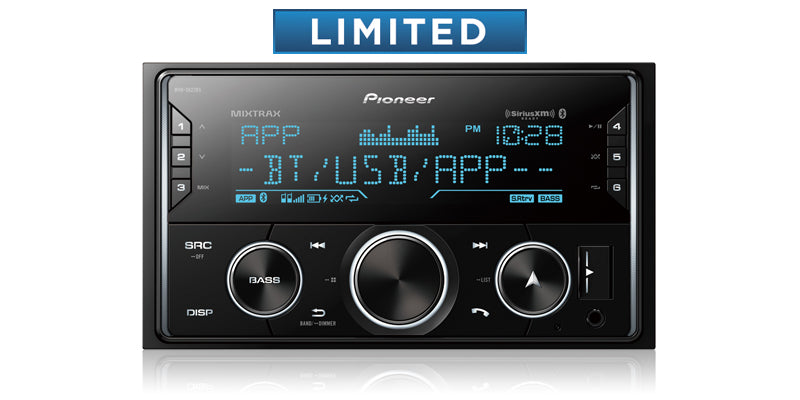 Pioneer MVH-S622BS Double DIN Digital Media Receiver with Enhanced Audio Functions, Pioneer Smart Sync App Compatibility, MIXTRAX®, Built-in Bluetooth®, and SiriusXM-Ready™