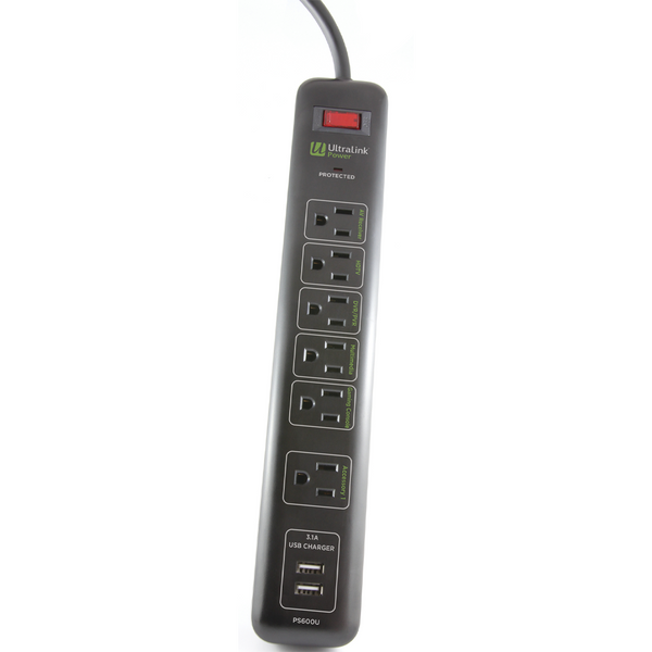 UltraLink PS600U 6-Outlet Surge Protector