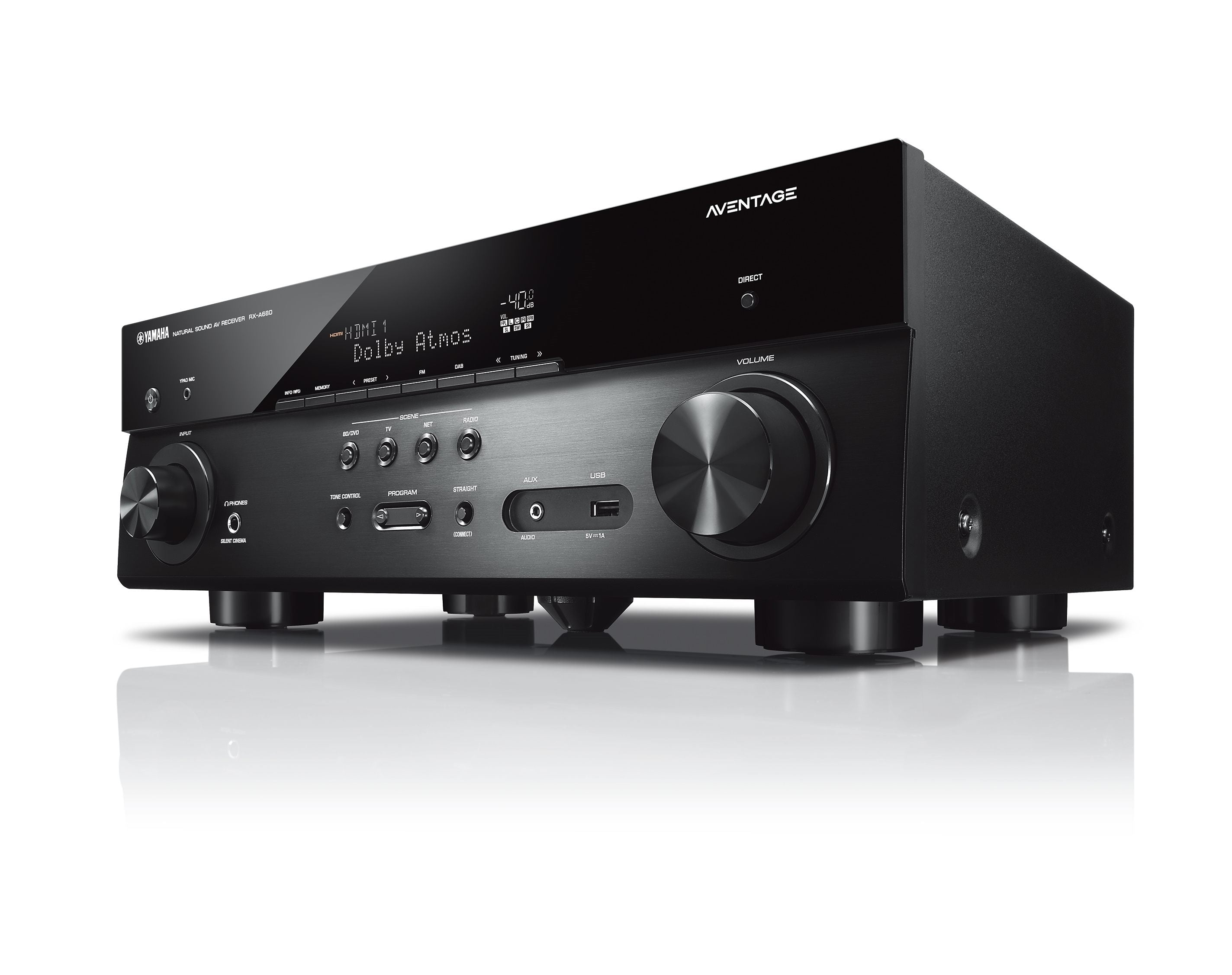 yamaha rx a680 7 2 channel av receiver advance electronics. Black Bedroom Furniture Sets. Home Design Ideas