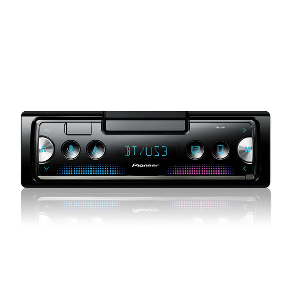 Pioneer SPH-10BT Pioneer Smart Sync with Alexa Receiver Featuring Built-In Cradle for Smartphone, enhanced multimedia functions, USB and Built-in Bluetooth