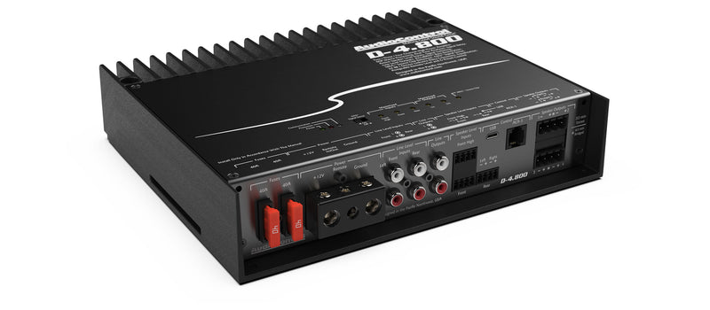 Audiocontrol D-4.800 High-Power 4 Channel DSP Matrix Amplifier with Accubass®