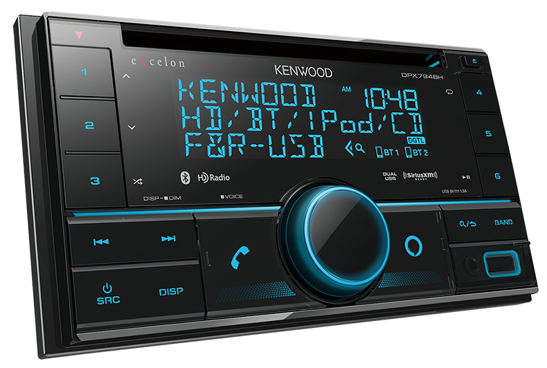 Kenwood eXcelon DPX794BH 2-DIN CD Receiver with Bluetooth & HD Radio