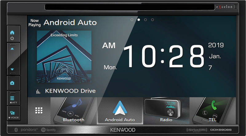 "Kenwood DDX6906S 6.8"" DVD Receiver with Bluetooth"