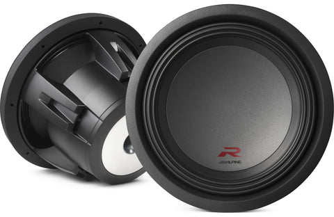 "Alpine R-W12D4 R-Series 12"" Subwoofer with Dual 4-ohm Voice Coils"