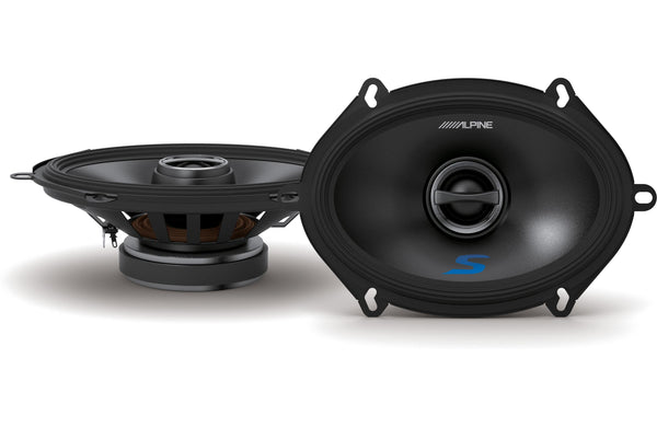 "Alpine S-S57 5X7"" Coaxial 2-Way Speaker Set"