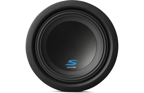 "Alpine S-W8D4 S-Series 8"" Subwoofer with Dual 4-ohm Voice Coils"