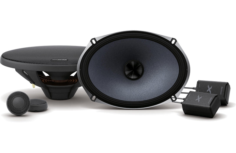 Alpine X-S69C X-Series 6x9 Inch Component 2-Way Speakers