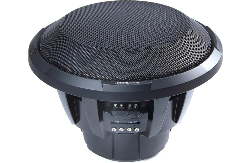 "Alpine X-W12D4 X-Series 12"" Subwoofer with Dual 4-ohm Voice Coils"