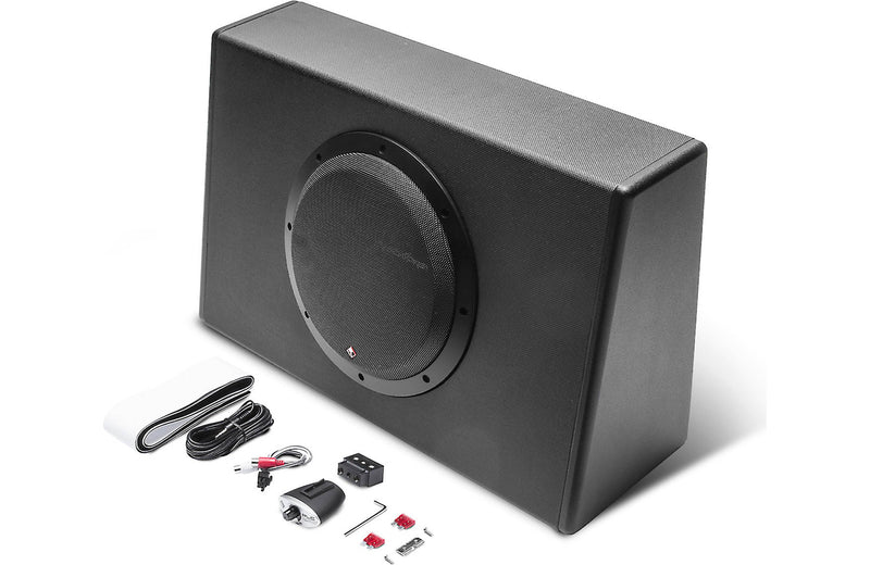 "Rockford Fosgate P300-10T Truck-style 300-watt Powered 10"" Subwoofer"