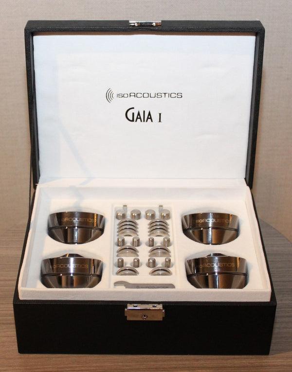IsoAcoustics GAIA I Machined Stainless Steel Acoustic Isolation Stands (package of 4)