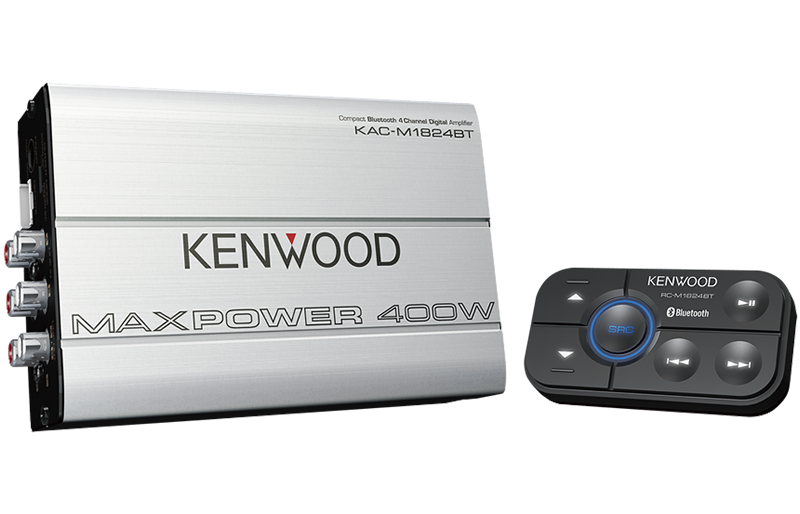 Kenwood KAC-M1824BT Compact Bluetooth 4 Channel Digital Amplifier - Advance Electronics