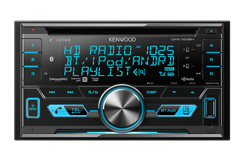 DEMO MODEL - Kenwood DPX793BH eXcelon 2-DIN CD Receiver with Bluetooth & HD Radio