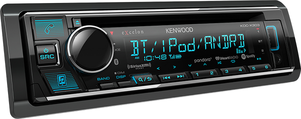 Kenwood KDC-X303 eXcelon CD Receiver with Bluetooth