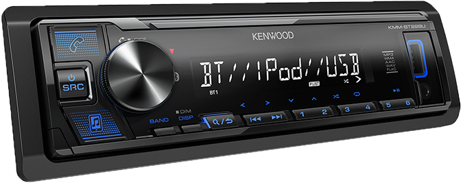Kenwood KMM-BT228U Digital Media Receiver with Bluetooth