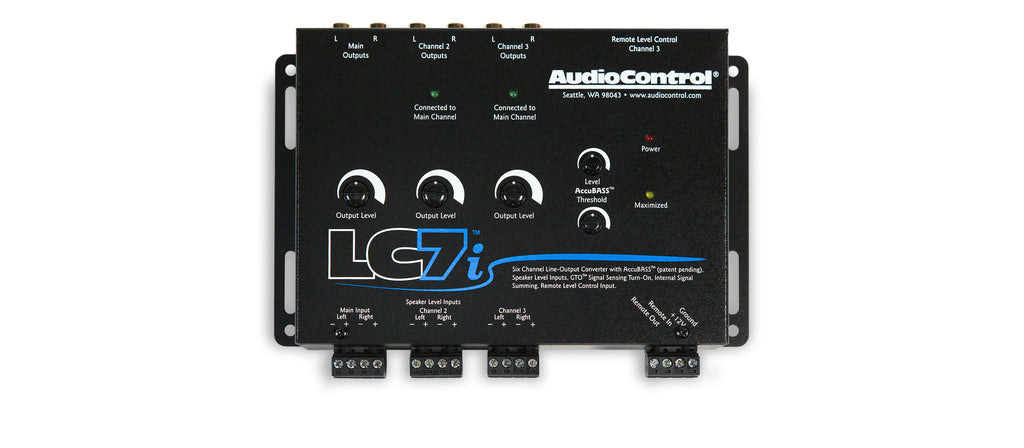 AudioControl LC7i 6 Channel Line Output Converter With AccuBass TM