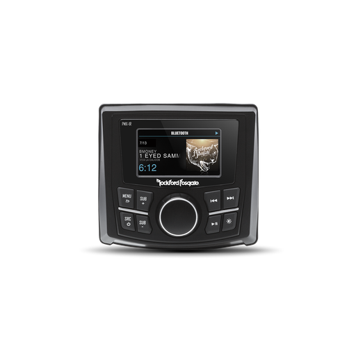 "Rockford Fosgate PMX-3 Compact Digital Media Receiver with 2.7"" Display"
