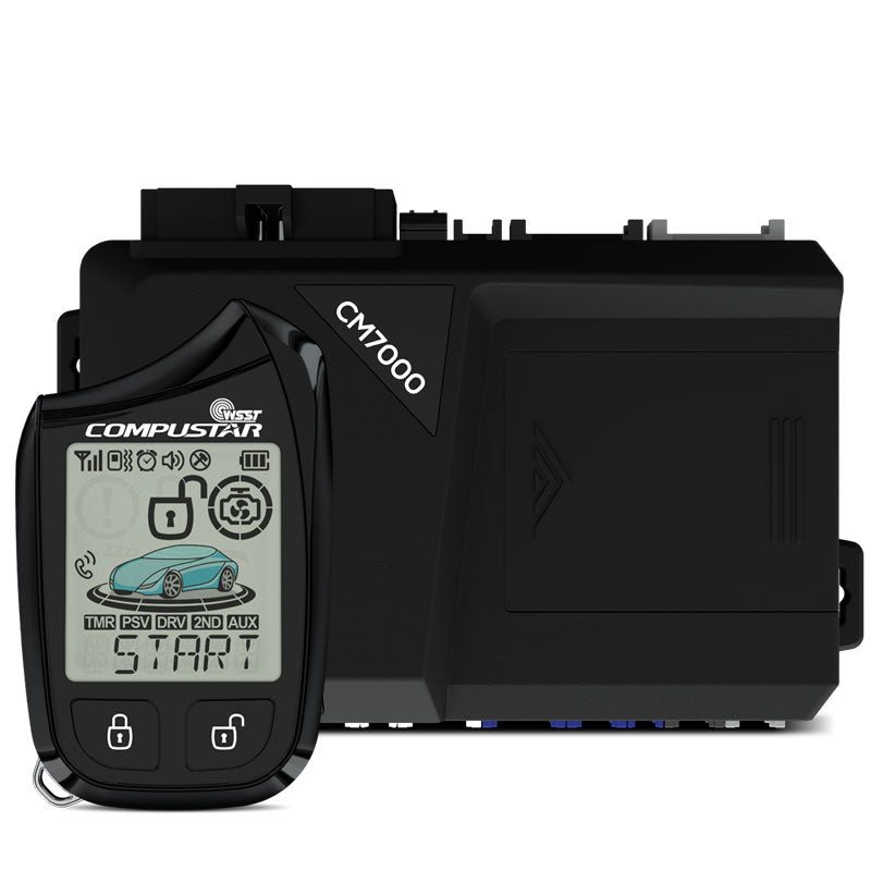 Compustar Prime 2-Way 901 1-Mile Remote Starter + Alarm with LCD Confirmation