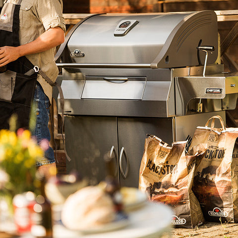 Napoleon Charcoal Professional Grill In Stainless Steel