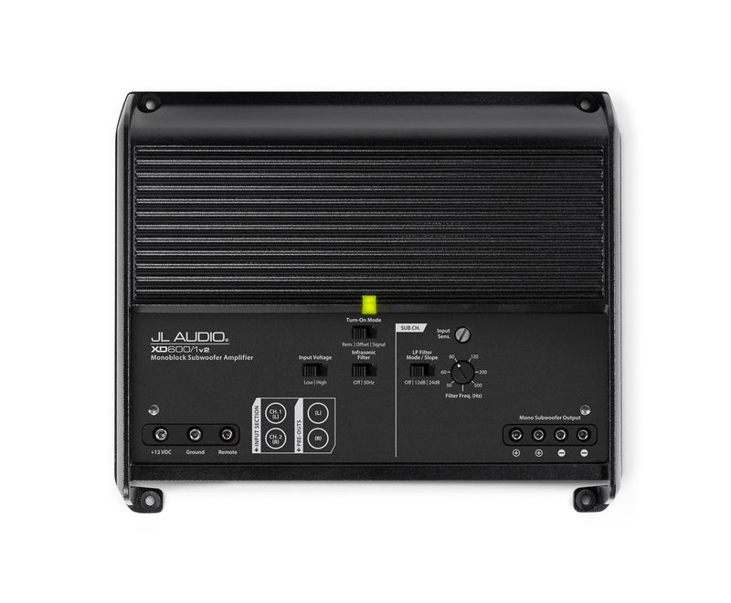 JL Audio XD600/1v2 Monoblock Class D Subwoofer Amplifier - Advance Electronics  - 4