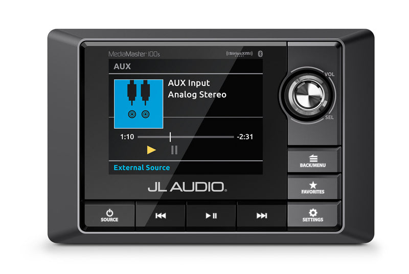 JL Audio MM100S Weatherproof Source Unit with Full-Color LCD Display