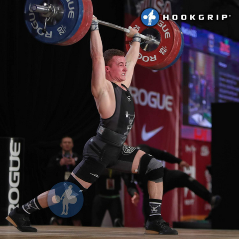 clean and jerk on a platform