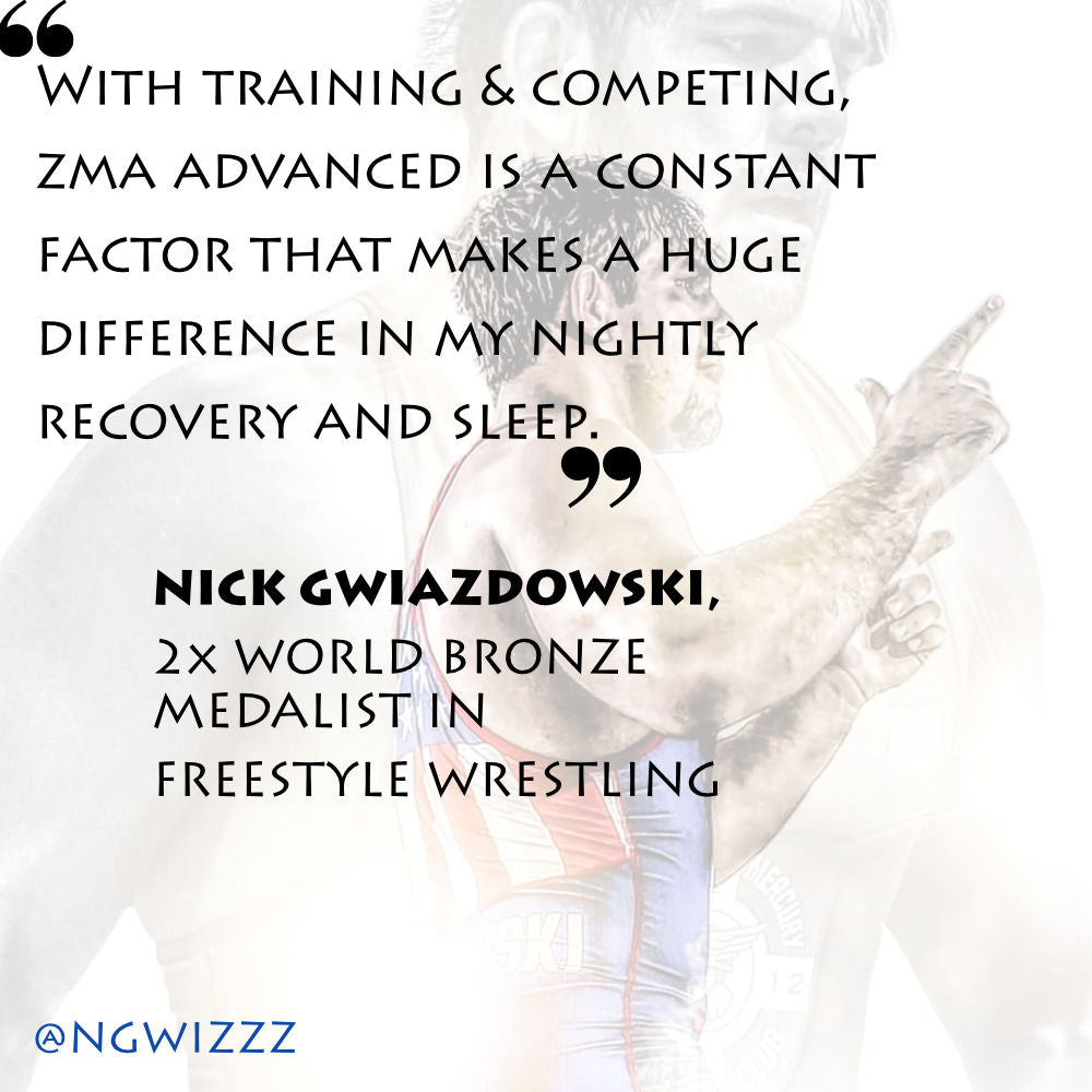 Nick Gwiz quote about the benefits of ZMA