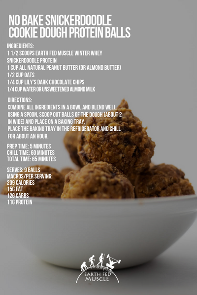 no bake cookie dough recipe card