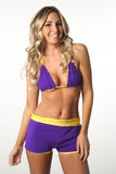 Teeny Trunkini Purple & Gold Top