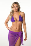 Purple Sheer Sarong