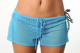 Bright Blue Sheer Shorts