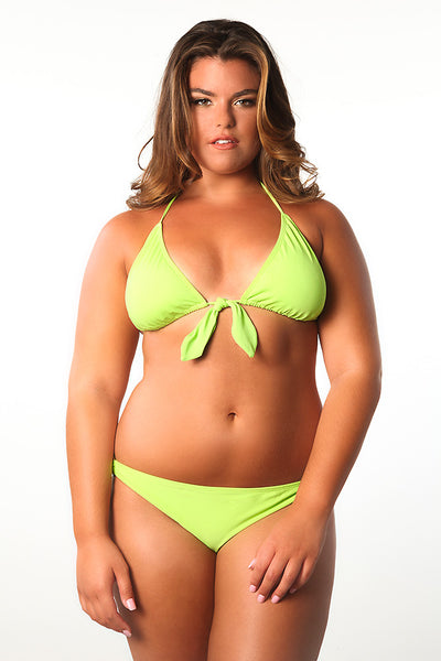"""In the Lime Light""Bow Tie  Bikini Top"