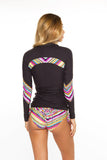 Rashguard- Black w/Tribal ZigZag