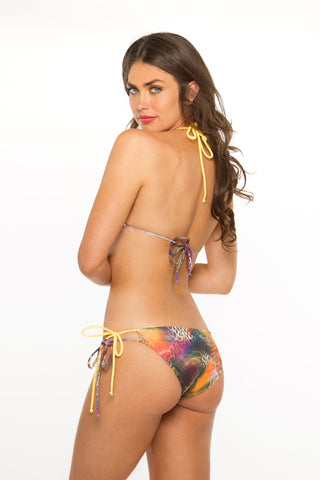 Reversible Double Tie Bottoms- FeatherSafari/Gold