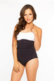 Peasant One Piece- White/Black