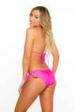 All Tied Up Scrunch Bottoms- Fuschia