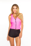 Zip Me Up Tank- Hot Pink