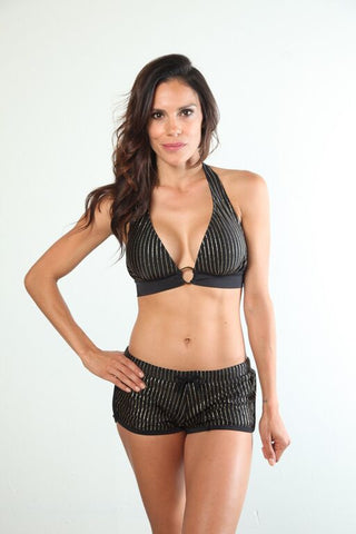Harlow Metallic Halter Top