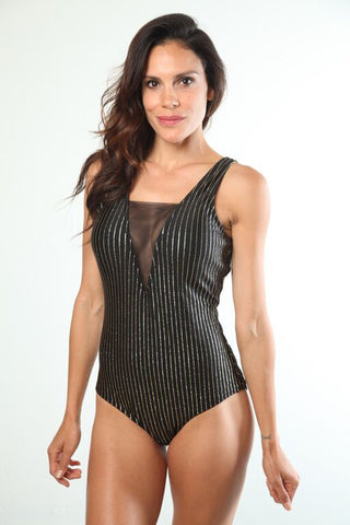 Natalia Metallic One-Piece