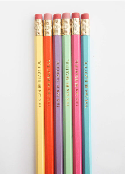 RAINBOW PENCIL SET (6 PACK) - by THE PENNY PAPER CO.