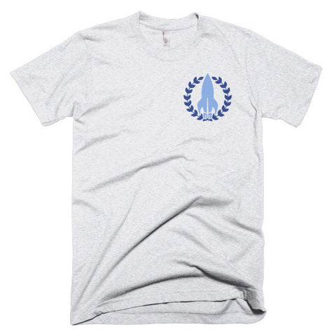 """The Discreet Tee"" NoFap Tee - Blue Emblem"