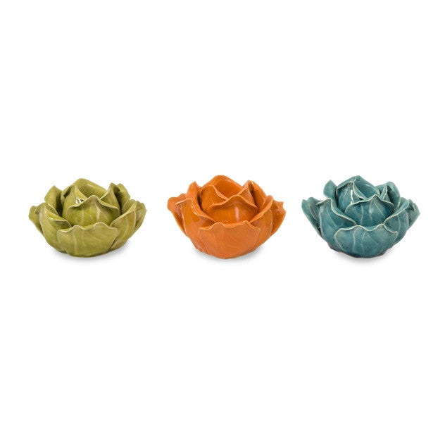 Chelan Flower Candle Holders
