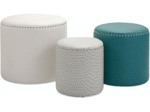 White Large Claire Ottoman
