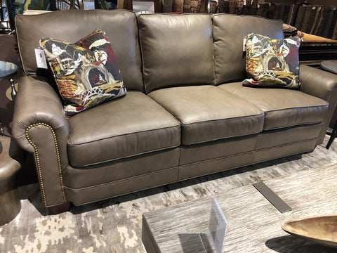 Sofa in Taupe Leather