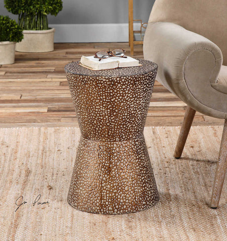 1259-Cutler Drum Accent table-Accent table