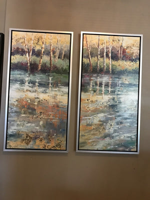 1332-Serenity At The Stream I - Hand Painted-Wall Art