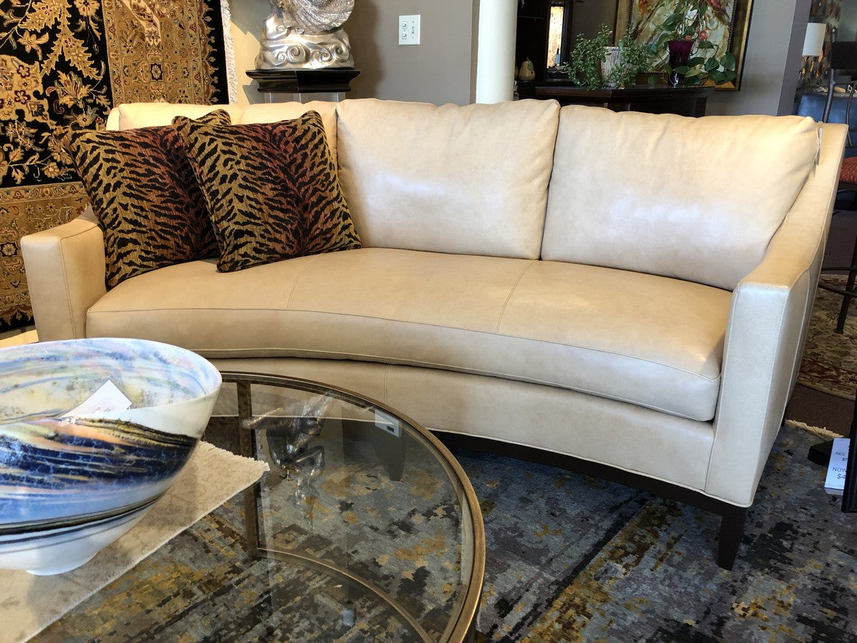 Light Gold Contemporary Curved Sofa