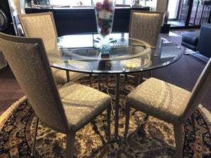 5 Piece Set Dinning Table and 4 Chairs - Furniture - orientalrugpalace