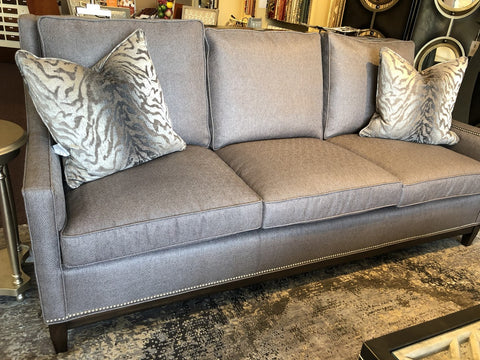 Upholstered Sofa with Nail Head