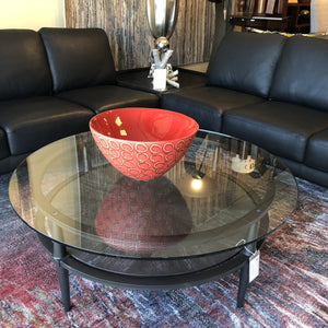 1469-Round Glass Cocktail table-Table
